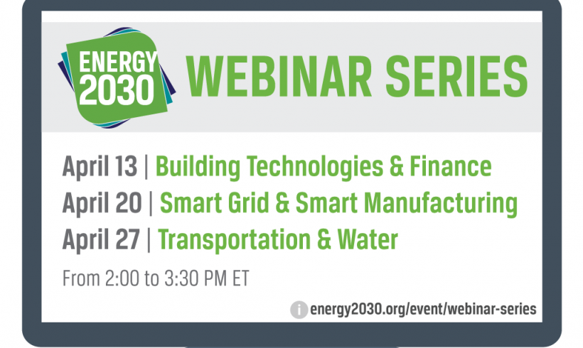 April Webinar Series: Accelerate Energy Productivity 2030